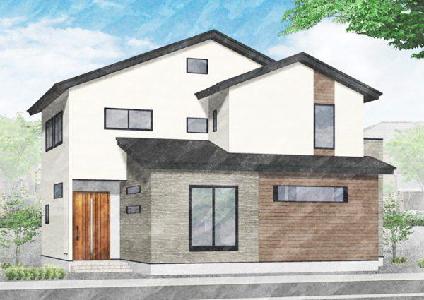 福増町モデルハウス外観イメージ